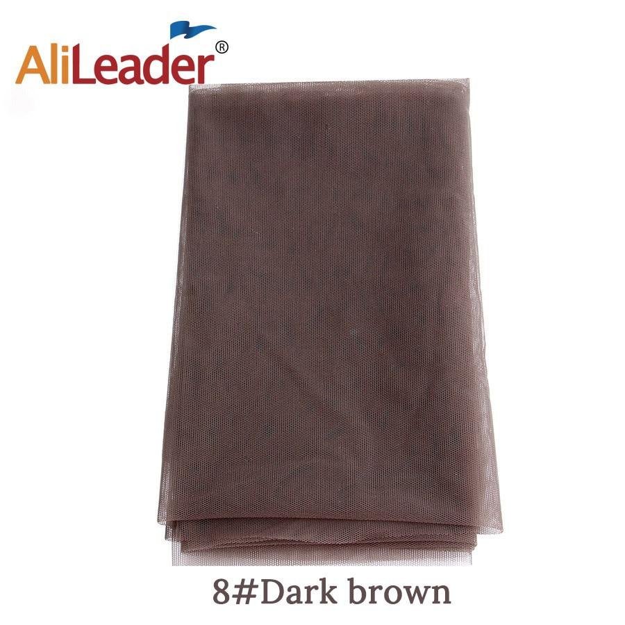 AliLeader дешевые 1/4 ярдов сделать кружева передние человеческие волосы парики основа для волос Прозрачная швейцарская кружевная сеть для парика изготовление материала - Цвет: Dark Brown