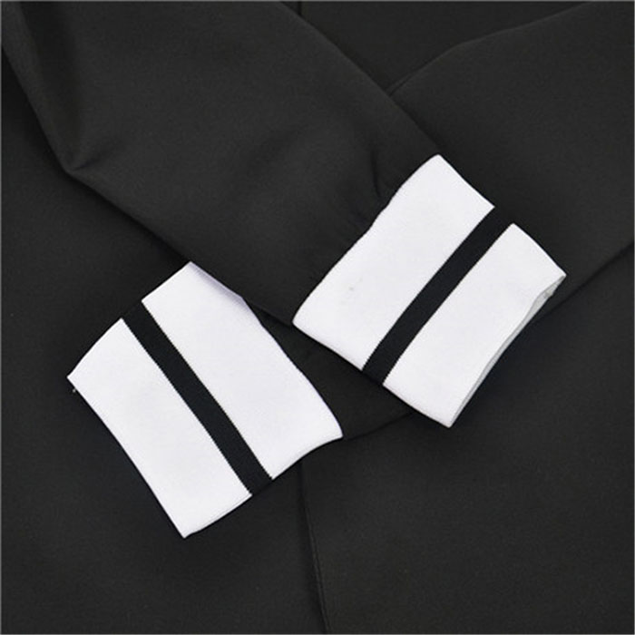 Image 5 - TAOVK women 2 two Piece Set suits Long sleeve stand up collar buttonless Black and white tracksuit-in Women's Sets from Women's Clothing