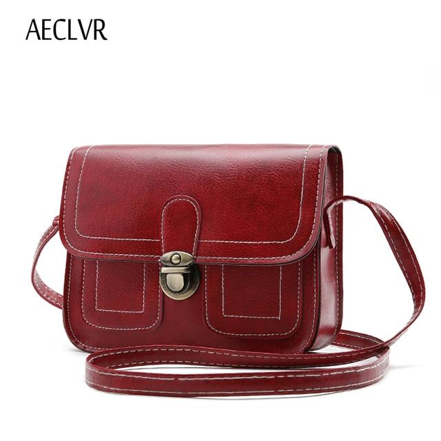AECLVR Women Messenger Bags Small crossbody bags for women Vintage Postman  mini package luxury handbags women 58ad929dddcce