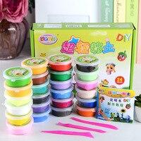 Pâte bricolage artisanat matériel escolar infantil slime jouets surprise pâte à modeler 24 couleur pâte à modeler super léger argile