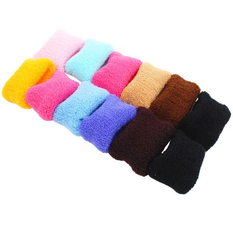 แฟชั่น 12Pcs ผู้หญิงผมแหวนเชือกกว้างหนา Hairband แถบยืดหยุ่น Candy ผู้ถือหางม้าสาวฝ้ายเด็กเครื่องประดับอุปกรณ์เสริม