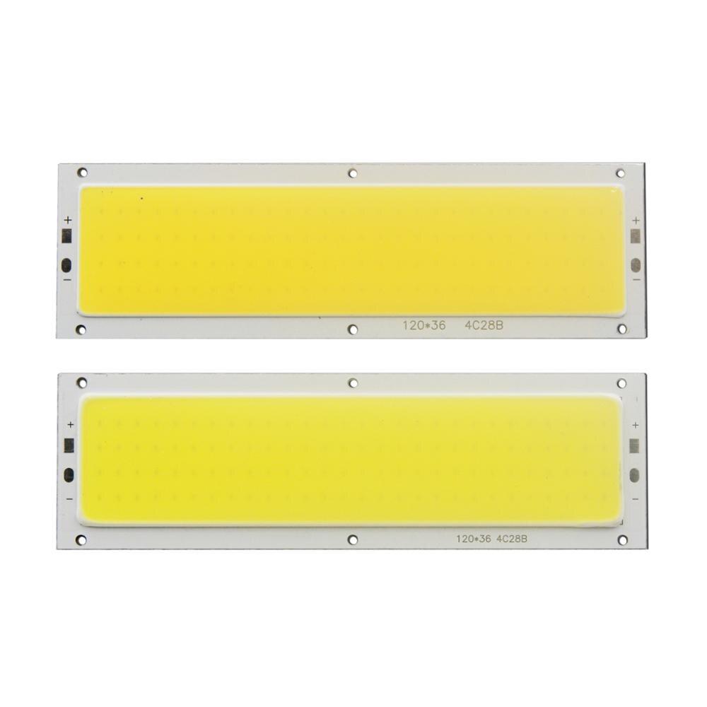Купить с кэшбэком 12V 120mm 36mm 12W Natural Warm White Blue RF remote dimmer flip chip COB LED for DIY auto Lamp LED COB Strip light source