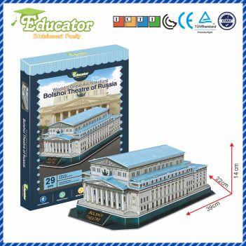 Světová slavná architektura 3D puzzle model Bolshoi divadlo Rusko DIY hry