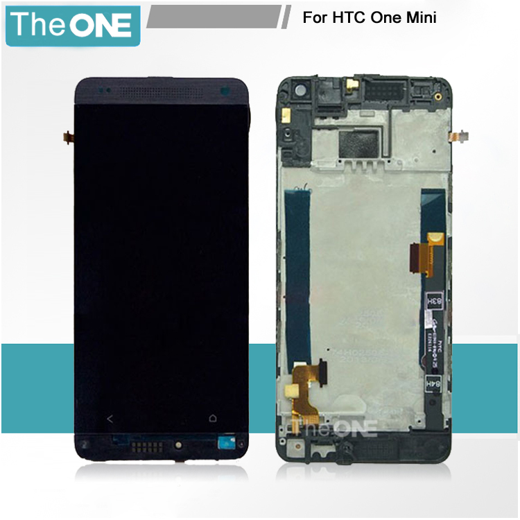 Подробнее о White/Black LCD Display + Digitizer Touch Screen Assemblely With Frame For HTC One Mini M4 601e 601n 601s Free Shipping black white color for htc one m8 1pc lot lcd display touch screen digitizer with frame replacement free shipping