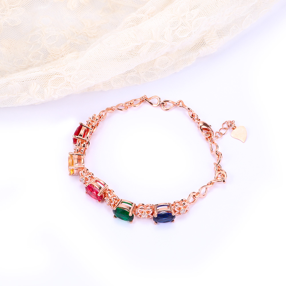 Crystal Rhinestone Bracelets Cubic Zirconia Jewelry Wedding Party Gift for Girls Friends