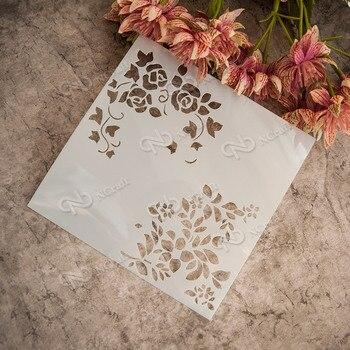 çiçek Yaprak Plastik Katmanlama Stencil Için Pastel Boya Boyama