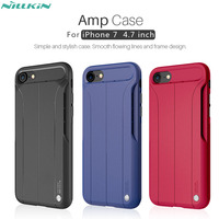 Case For iphone 7 NILLKIN Amp Case for iPhone 7 4.7 inch Creative Shockproof TPU Case Back Cover work with magnetic car holder
