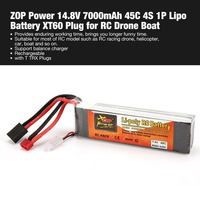 ZOP Power 7.4V 8000mAh 40C 2S 1P Lipo Battery T TRX Plug Rechargeable for RC Racing Drone Quadcopter Helicopter Car Boat