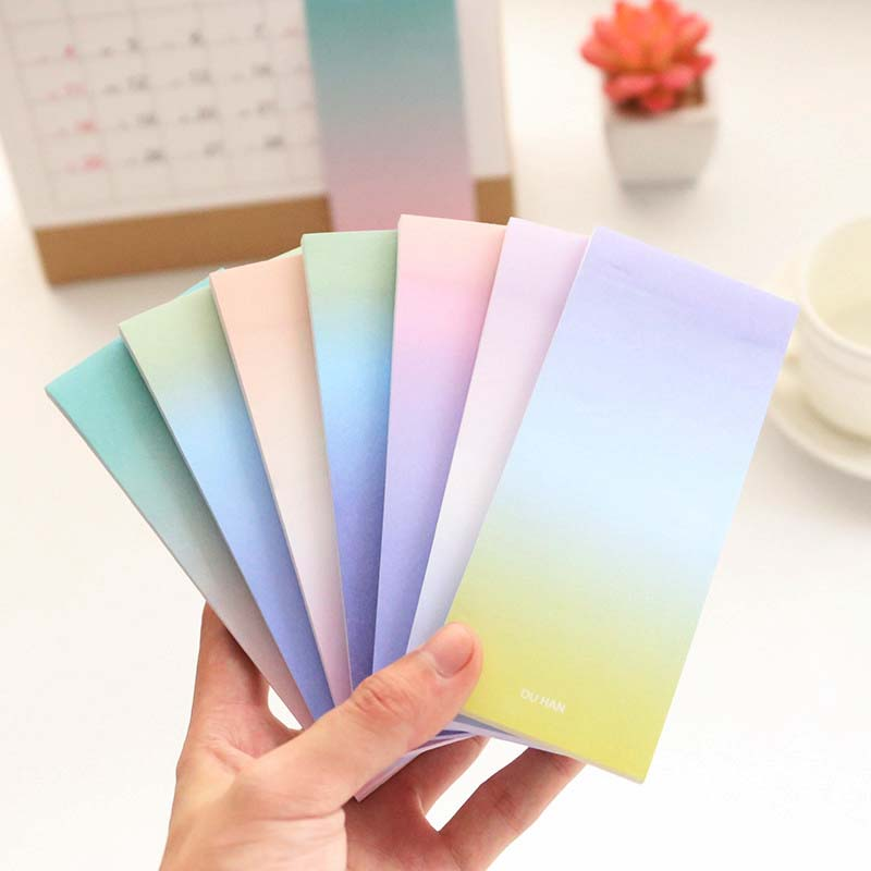 Natural Dream Series Self-Adhesive Memo Pad Sticky Notes Bookmark Vintage Paper Notepad Sticker School Office Supply
