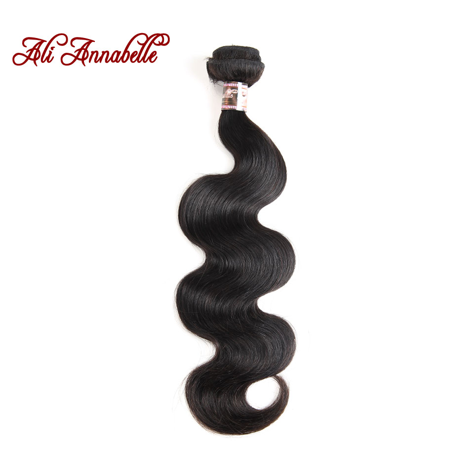 ALI ANNABELLE HAIR Brazilian Body Wave Hair Extensions 100 Remy Human Hair Weave Bundles Natural Color