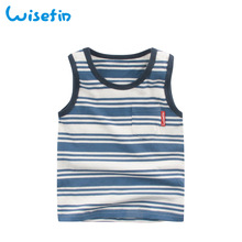 Wisefin Child Boys Sleeveless T-Shirts 100% Cotton Comfy Top Shirts Casual Tee Kids Summer Fashion Clothes Age 1-7Y