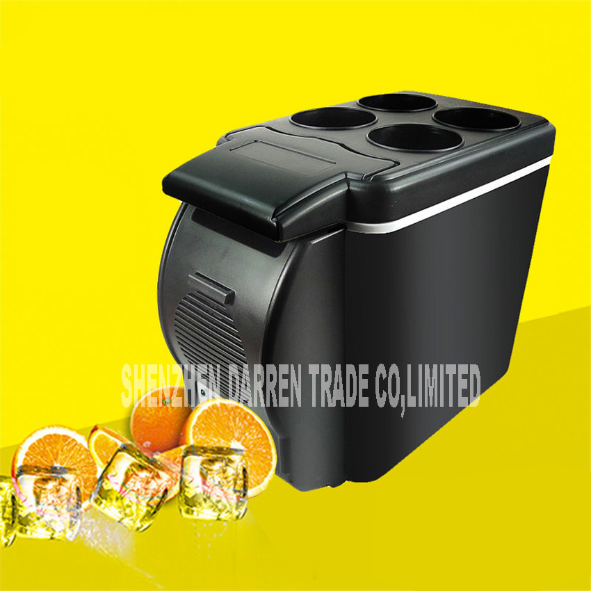 Mini Car 6L Fridge 12V Auto Travel Refrigerator Y054 Cooler Freezer Warming Portable Multi-Function Household Food Preservation