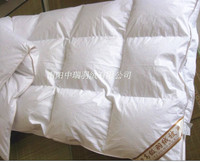 Single quilt/ comfortble Twin/King/queen/ filled 400g white duck down whosale /paypal accepted