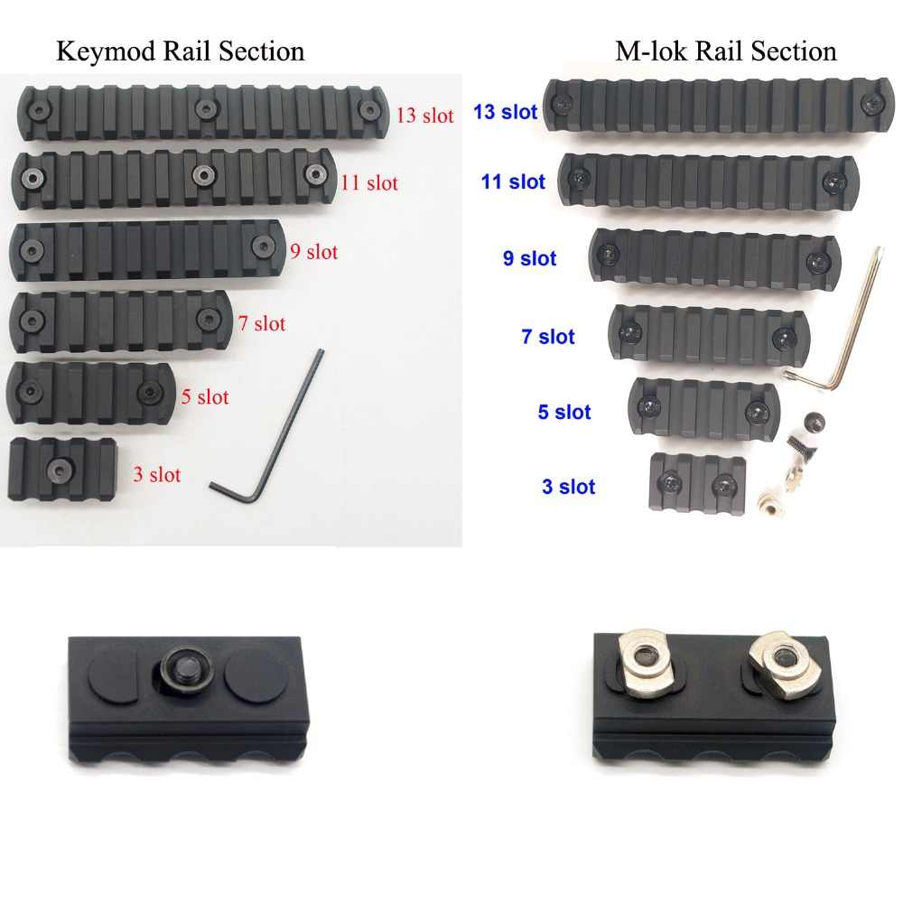 3 Colors Tactical Keymod Picatinny Weaver Rail Handguard Section ABS Plastic UK