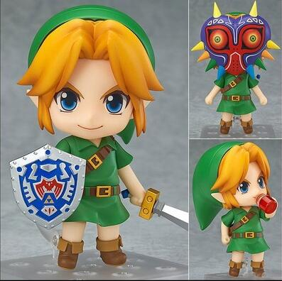The Legend of Zelda Action Figures Link Nendoroid Majora's Mask PVC 10cm Collectible Model Toys Zelda Nendoroid Figure legend of zelda action figure toys 10cm pvc nintendo 3ds zelda manga figma zelda link vinyl doll