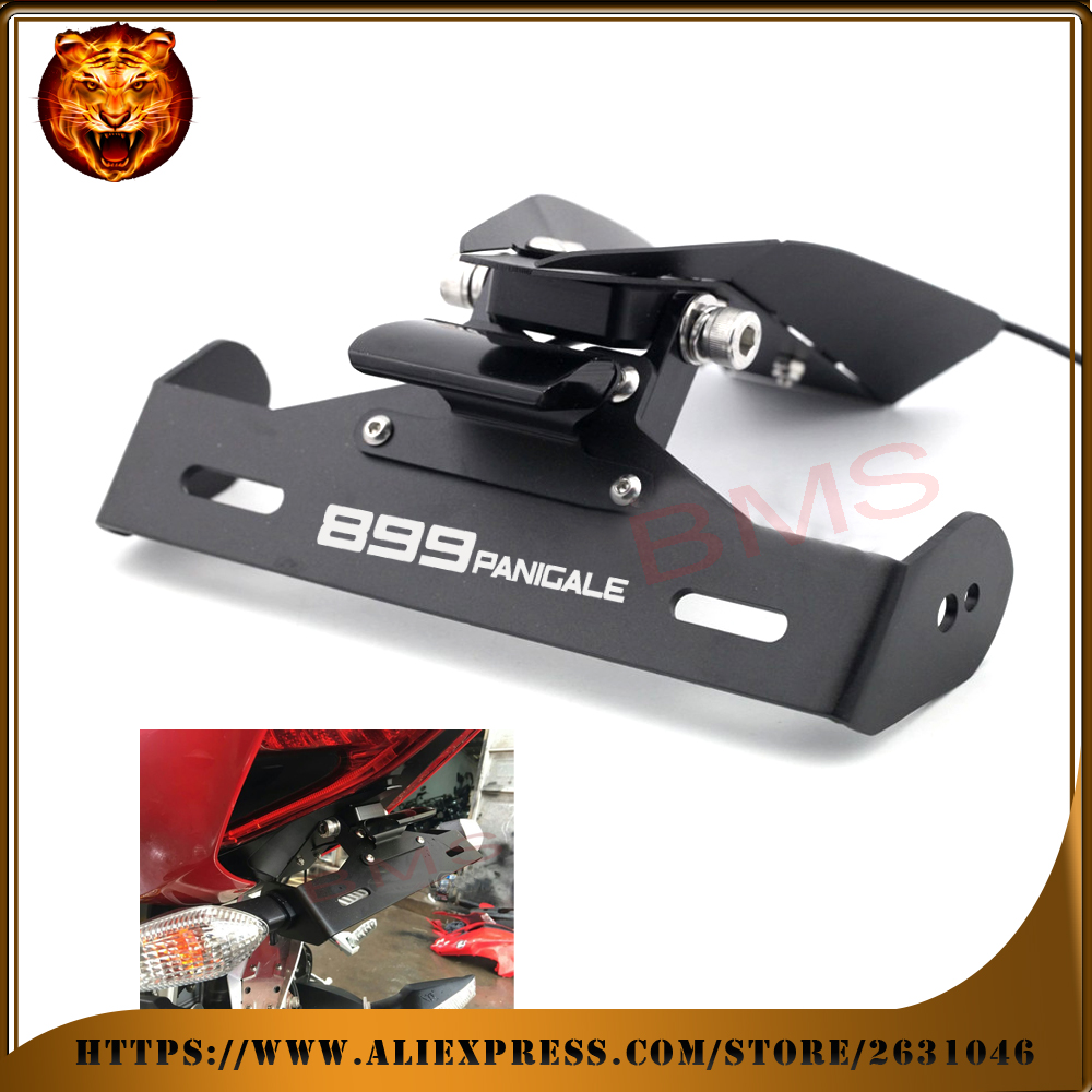 Motorcycle Tail Tidy Fender Eliminator Registration License Plate Holder bracket LED Light For DUCATI Panigale 899 free shipping maluokasa motorcycle fender eliminator tail tidy for suzuki hayabusa gsx1300r 2008 2009 motor license plate tail light bracket