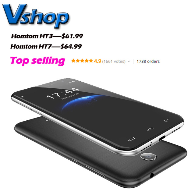 Homtom ht3 ht7 3g wcdma smartphone android 5.1 mtk6580 quad core ram 1 gb rom 8 gb smartphone soporte dual sim unlock