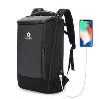 OZUKO Men Backpack 17 inch Laptop Anti theft Waterproof Multifunction USB Charging Port Travel Backpacks Large Rain Cover Male