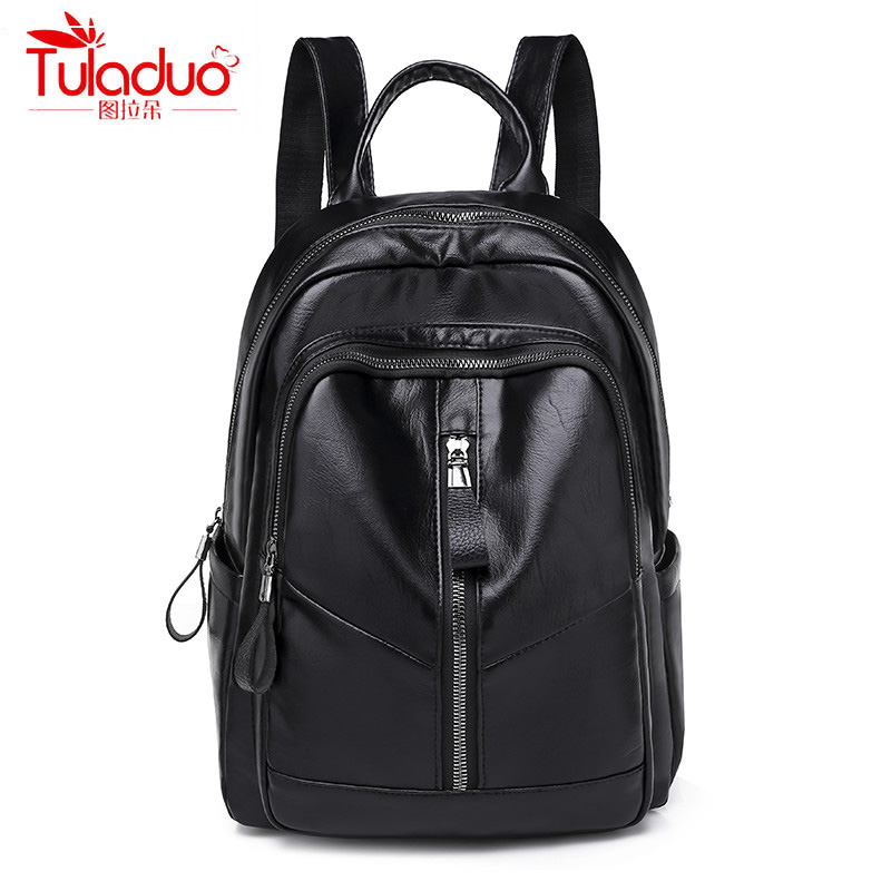 Fashion Solid Women Backpacks High Quality Soft PU Leather Women Backpack Famous Brand Large Capacity Ladies Backpacks 2019Fashion Solid Women Backpacks High Quality Soft PU Leather Women Backpack Famous Brand Large Capacity Ladies Backpacks 2019