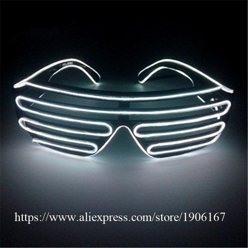Fashion El Draad Party Zonnebril Kleurrijke LED Verlichting Shutter ...