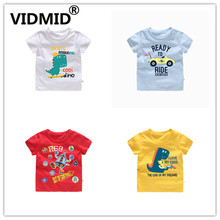 VIDMID Children's T-shirt Boys T-shirt Baby Clothing Little Boy Summer tops Tees cars Cotton Cartoon Clothes 1-6Y  4018 32