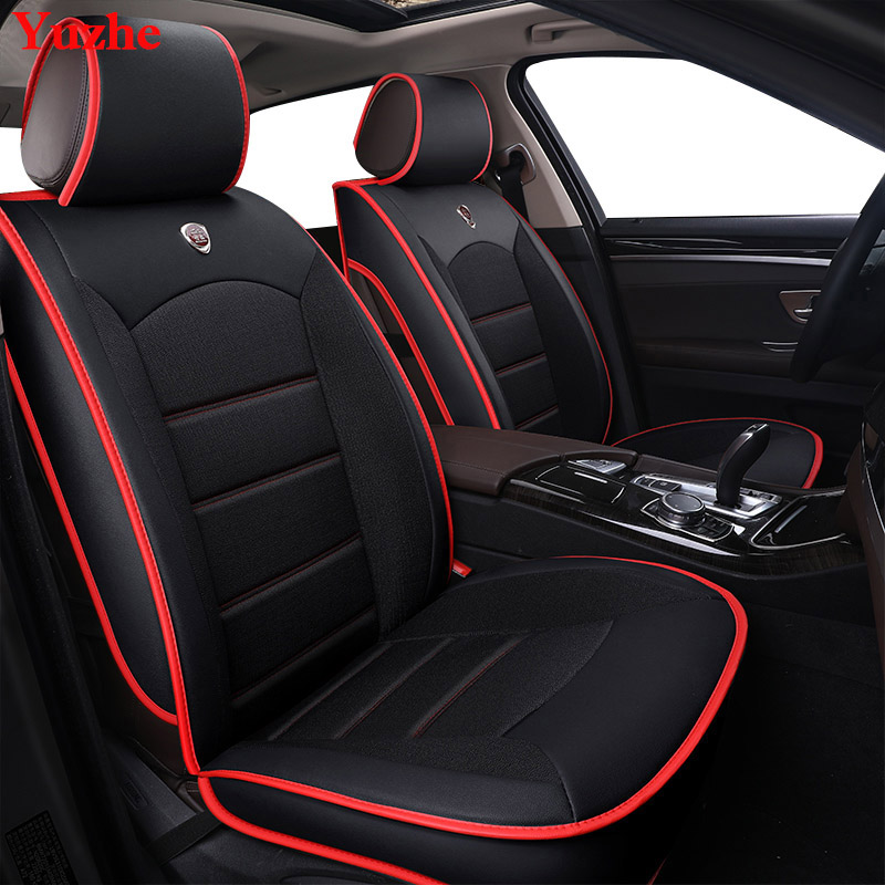 Yuzhe Auto automobiles Leather car seat cover For Kia soul cerato sportage 2017 optima RIO K3S KX5 Ceed car accessories styling flybetter genuine leather smart key case cover for kia kx3 kx5 k3s rio ceed cerato optima k5 sportage sorento car styling l72