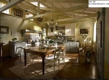 Античный стиль, твердая древесина кухонных шкафов (LH-SW001)