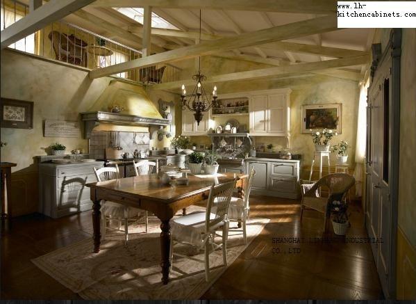Stile antico in legno massello mobili da cucina (LH SW001) in Stile ...