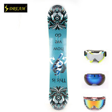 Customizable Freestyle Adult's Snowboards Poplar Core Wood With Carbon Fiber P-TEX Base Skiing Board Freeride Free ski goggles