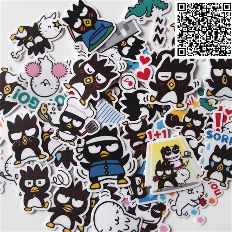 New 40 Pcs Mini Black Chicken Decal Mobile/PC Car Phone Self Waterproof Scrapbooking Stickers Car Sticker Wedding Decoration