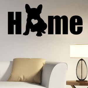 Image 1 - 犬シルエット壁用ステッカーリムーバブルビニールフレンチブルドッグ壁ステッカー動物家の装飾ペットサロン壁壁画のポスター RL03