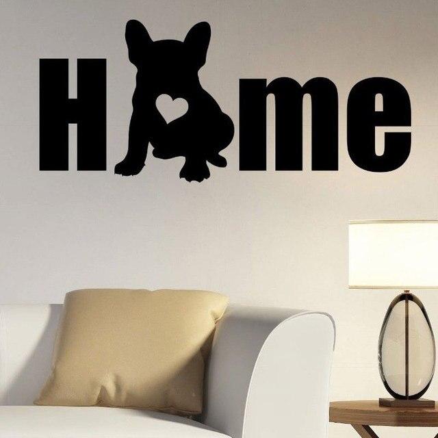 犬シルエット壁用ステッカーリムーバブルビニールフレンチブルドッグ壁ステッカー動物家の装飾ペットサロン壁壁画のポスター RL03