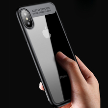 купить Case For iPhone XS MAX XR X Case Ultra Thin PC Slim Transparent Back Cover For iPhone XR XS 6 6S 7 8 Plus Soft TPU Phone Case дешево