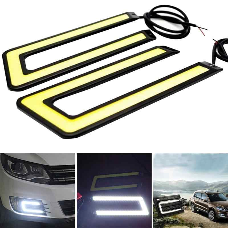 2pcs 14CM Daytime Driving Fog Lights Vehicle Daytime Running Light COB LED Car Lamp External Lights Auto Waterproof Car Styling