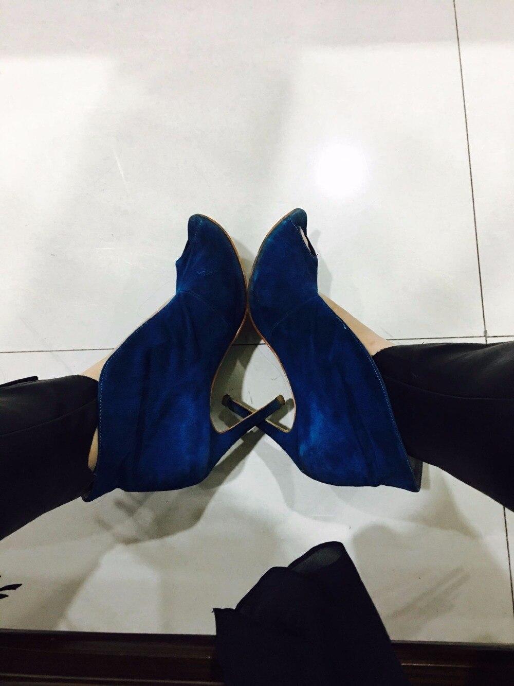 ФОТО Chuassure female sexy blue high heel women stilettos super high thin heel slip on peep toe women green catwalk shoes dress shoes