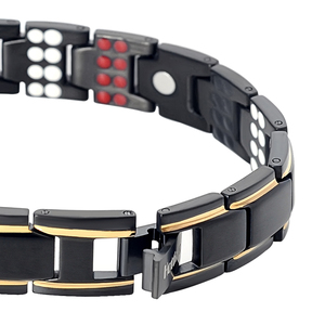 Image 4 - Hottime 109 PCS Bio Elements Energy Stone 3500 Gauss Magnetic Therapy Germanium Bracelet 4 IN 1 Mens Fashion Health Jewelry