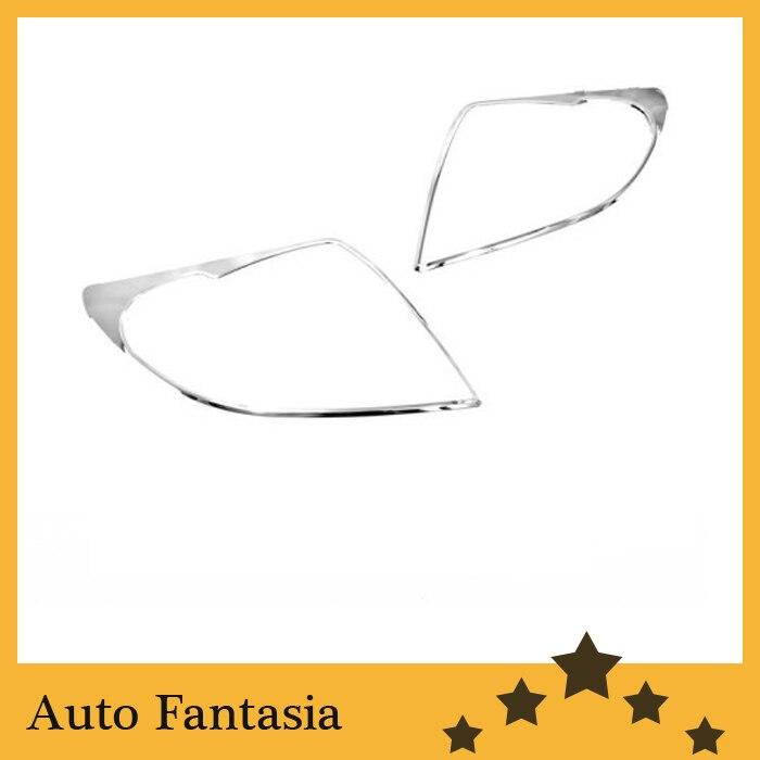 Auto Chrome Parts Chrome Head Light Cover for Suzuki Swift 04 10 Free Shipping