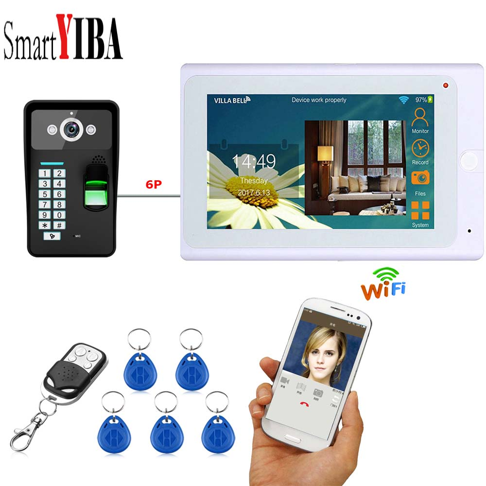 SmartYIBA Audio Visual Entry Video Door Phone Intercom System Support Remote APP unlocking recording and take photo function image