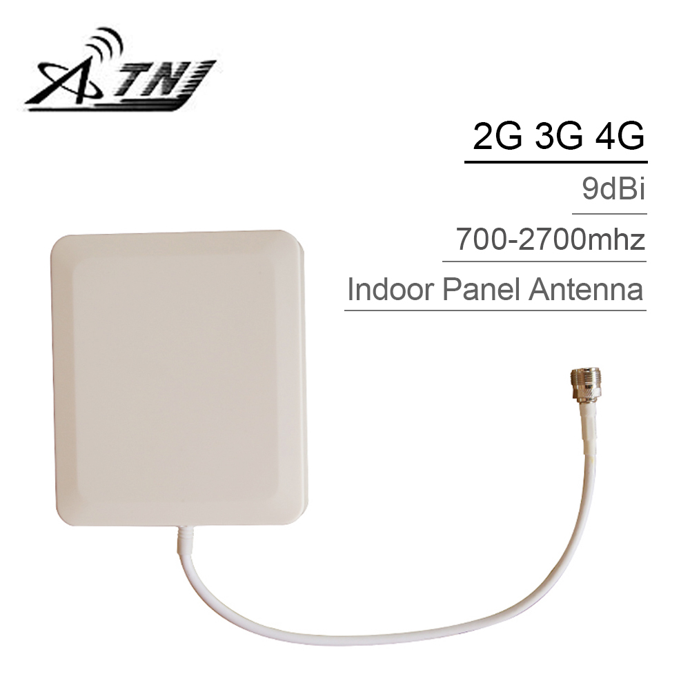 700mhz-2700hz GSM 2G 3G 4G LTE Mobile Phone Antenna N Type 9dBi Gain Indoor Panel Internal Cellphone Antenna For Signal Booster