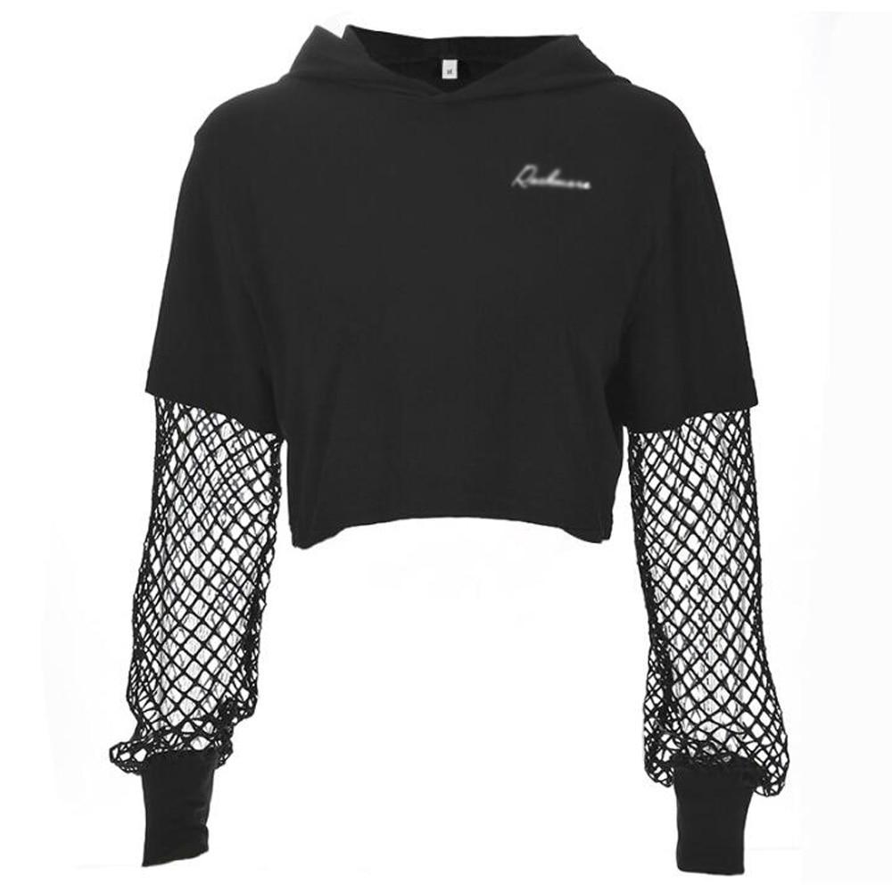 Womens Vintage Victorian Steampunk Gothic Pullover Hoodies Long Sleeve Dark Tops Short Sweatshirts