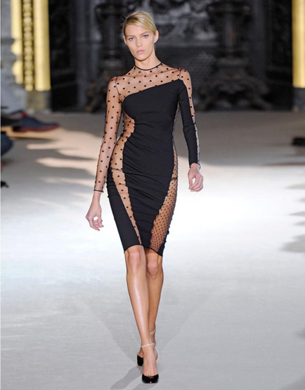 Dower Me Cheap Party Dress Fashion Women Sexy Half Polka ...