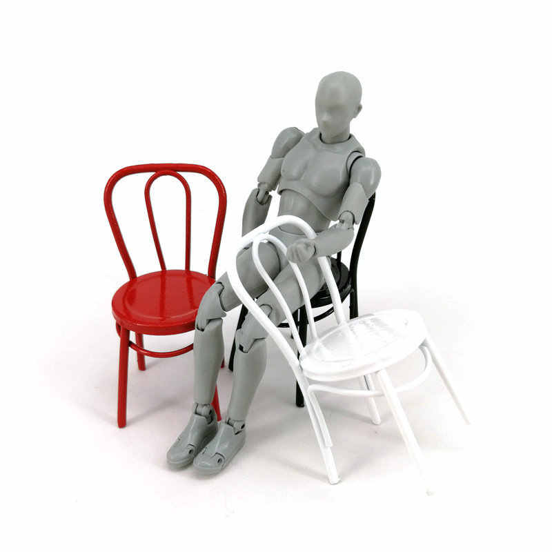 3 Color Dollhouse Miniature 1:12 Iron Chair model for Blyth BJD Dolls House Furniture for dolls mini chair toys for children