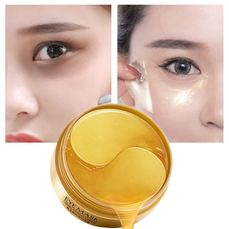 Collagen Eye Patches Korea Against Wrinkles Dark Circles Eyes Mask Gold Bags Ageless Hydrogel Sleep Gel Patch 60PCS For Women LQ(China)