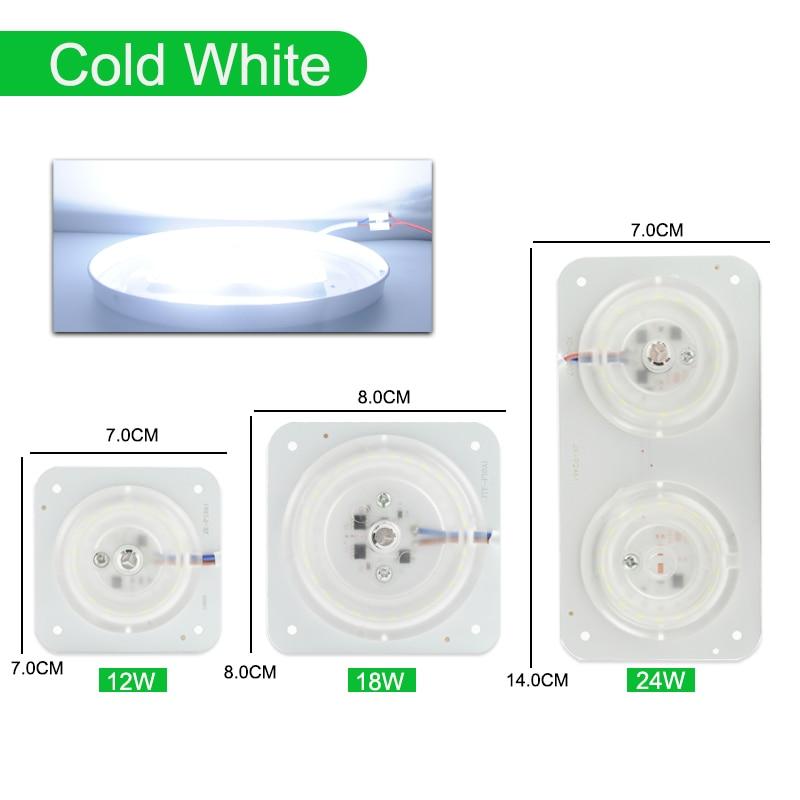 Магнитный потолочный светильник светодиодный модуль AC220V 12 Вт 18 Вт 24 Вт Светодиодный светильник источник заменить потолочный светильник ing аксессуар пластина Кольцо Теплый Холодный белый - Испускаемый цвет: MINI Module Cold