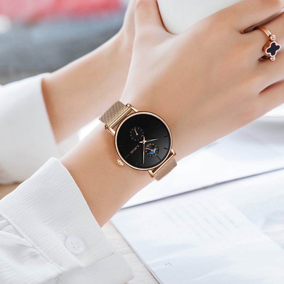 Image 5 - LIGE Womens Watches Top Brand Luxury Waterproof Watch Fashion Ladies Stainless Steel Ultra Thin Casual Wrist Watch Quartz Clock-in Women's Watches from Watches