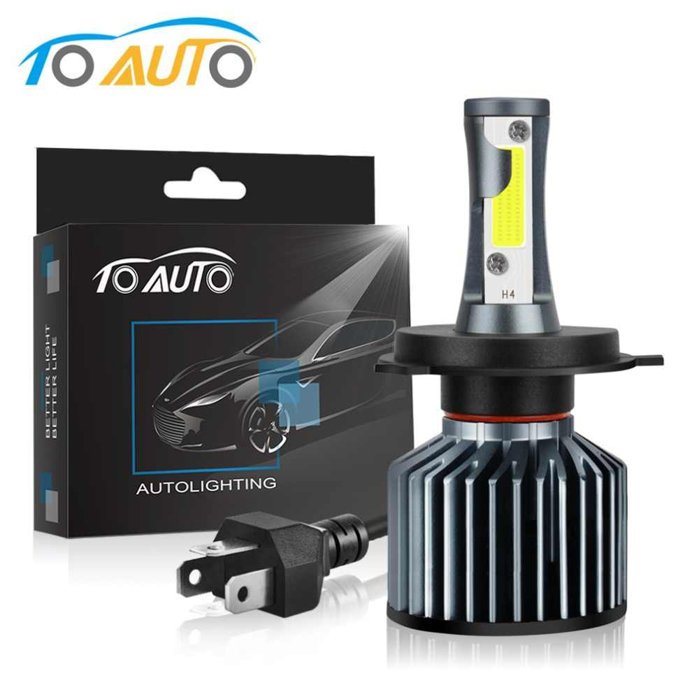 Motorcycle Headlight H4 Led Bulbs Hi Lo Beam Moto Headlamp Bulb Super Bright COB Chip Motorcycle Accessories Light 12V 35W White