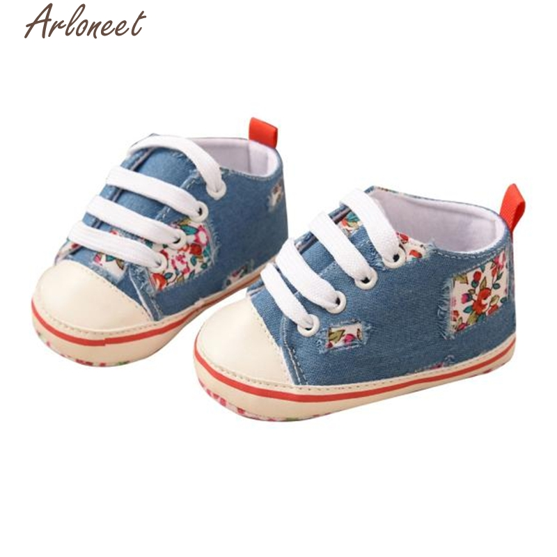 2017 new Toddler Baby Colorful Stars Printing Bandage Canvas Shoes Newborn Shoes high quality