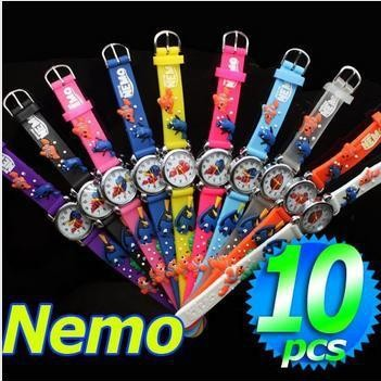 Impartial Free Shipping 10pcs/lot Wholesales Cute Children 3d Finding Nemo Watch Toy Gift Kids 3d Watch Watches