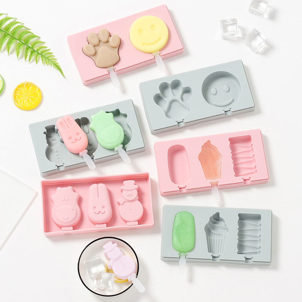 Creative Ice Cream Silicone Mold Homemade Popsicle Molds DIY Ice Lolly Moulds Household Ice Cube Tray Maker Kitchen Accessories in Ice Cream Makers from Home Garden