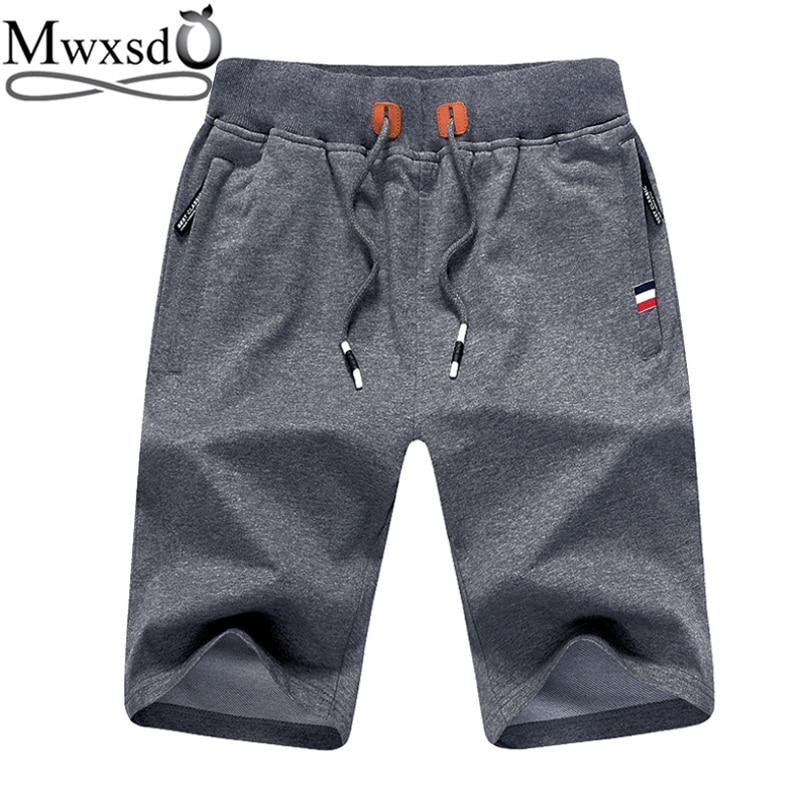Mwxsd brand summer Casual Men Cotton Shorts 5xl Mens bermuda sports gym male short masculino men Brand Clothing